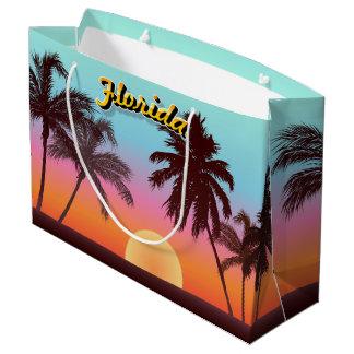 Sacola Para Presentes Grande Por do sol de Florida