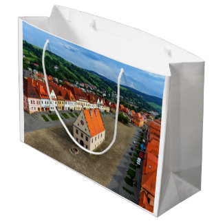 Sacola Para Presentes Grande Praça da cidade velha em Bardejov, Slovakia