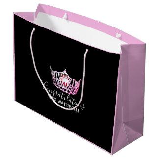 Sacola Para Presentes Grande Presente cor-de-rosa do rosa do 2-Tom da coroa da