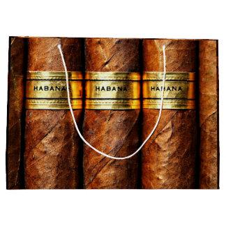 Sacola Para Presentes Grande Presente cubano do luxo de Clube do fumo dos