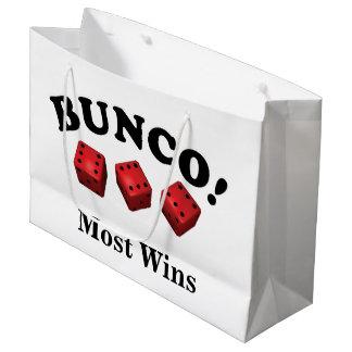Sacola Para Presentes Grande Presente dos dados de Bunco a maioria de vitórias