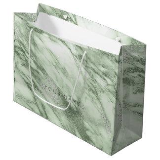 Sacola Para Presentes Grande Presente metálico de mármore Pastel das azeitonas