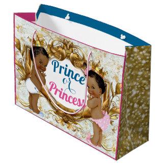 Sacola Para Presentes Grande Príncipe ou princesa africana Género Revelação