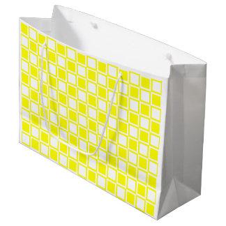 Sacola Para Presentes Grande Quadrados corajosos amarelos da modificação
