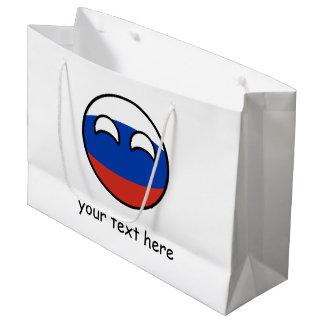 Sacola Para Presentes Grande Rússia Geeky de tensão engraçada Countryball