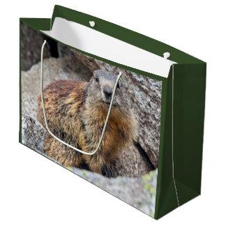 Sacola Para Presentes Grande Saco alpino do presente da marmota