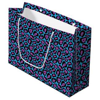 Sacola Para Presentes Grande Saco azul & cor-de-rosa do presente do Lg do