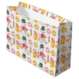 Sacola Para Presentes Grande Saco bonito do presente de época natalícia do