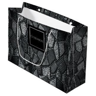 Sacola Para Presentes Grande Saco cinzento escuro personalizado do vidro de