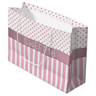 Sacola Para Presentes Grande Saco cor-de-rosa L do presente do doce 16 do
