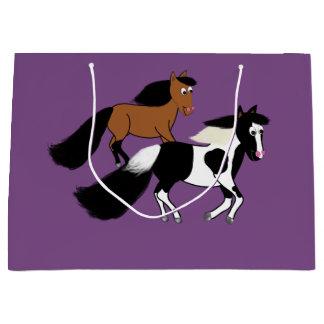 Sacola Para Presentes Grande Saco da festa de aniversário do cavalo