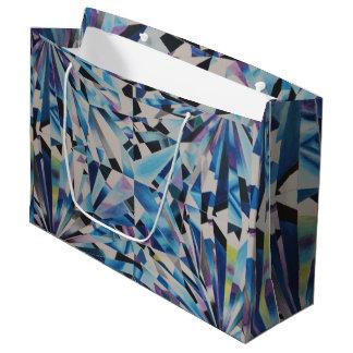 Sacola Para Presentes Grande Saco de vidro do presente do diamante - grande,