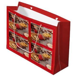 Sacola Para Presentes Grande Saco decorativo do presente de época natalícia do