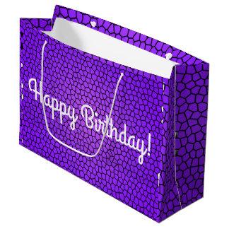 Sacola Para Presentes Grande Saco do aniversário do impressão do cobra do feliz