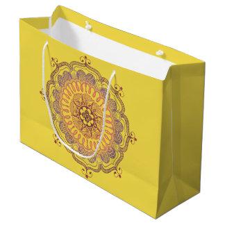 Sacola Para Presentes Grande Saco do favor da mandala elegante e colorida