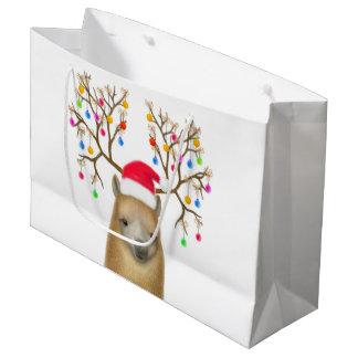 Sacola Para Presentes Grande Saco do presente da alpaca do feriado do Natal