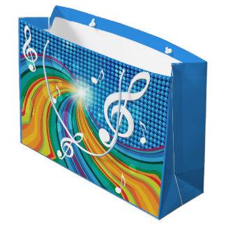 Sacola Para Presentes Grande Saco do presente da ilustração da música
