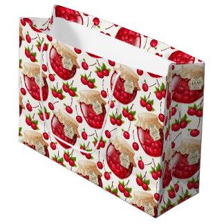 Sacola Para Presentes Grande Saco do presente do doce de cereja grande