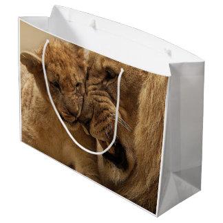 Sacola Para Presentes Grande Saco do presente do duo do leão