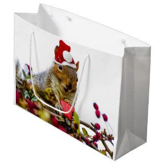Sacola Para Presentes Grande Saco do presente do esquilo do Natal grande