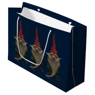 Sacola Para Presentes Grande Saco do presente do gnomo velho do Natal grande