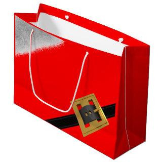 Sacola Para Presentes Grande Saco do presente do Natal do terno vermelho do