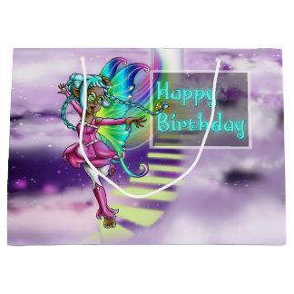 Sacola Para Presentes Grande Saco feericamente do presente de aniversário da
