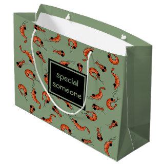 Sacola Para Presentes Grande Saco feito sob encomenda do presente do camarão