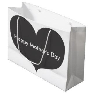 Sacola Para Presentes Grande Saco feliz cinzento grande do presente do dia das