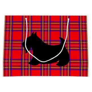 Sacola Para Presentes Grande Saco grande do presente do Natal de Terrier do