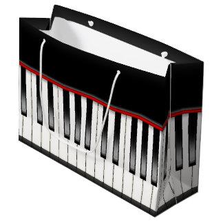 Sacola Para Presentes Grande Saco legal do piano do partido dos melómanos