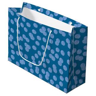 Sacola Para Presentes Grande Saco lustroso do presente das bolinhas azuis