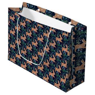 Sacola Para Presentes Grande Saco medieval do presente da tapeçaria do coelho