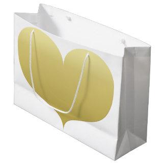 Sacola Para Presentes Grande Saco romântico grande do presente do coração | do