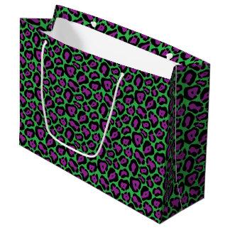 Sacola Para Presentes Grande Saco roxo & verde do presente do Lg do impressão
