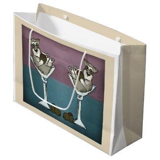Sacola Para Presentes Grande Schnauzer Martini o o saco dobro do presente do