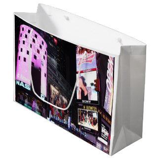 Sacola Para Presentes Grande Times Square na Nova Iorque (rosa)
