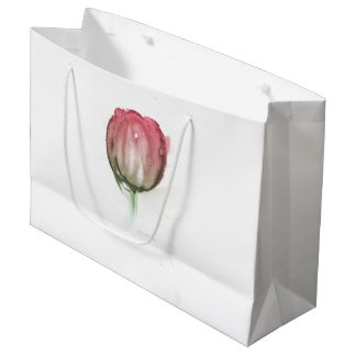 Sacola Para Presentes Grande Tulipa vermelha