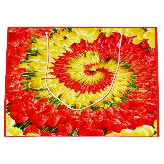 Sacola Para Presentes Grande Twirl das tulipas