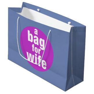 Sacola Para Presentes Grande Um saco para a esposa