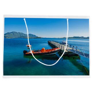 Sacola Para Presentes Grande Veado da aterragem e barco da velocidade