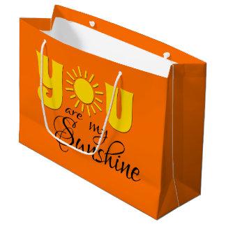Sacola Para Presentes Grande Você é minha luz do sol