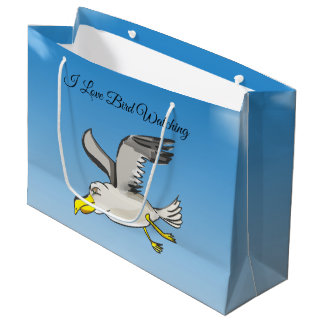 Sacola Para Presentes Grande Vôo da gaivota dos desenhos animados aéreo com um
