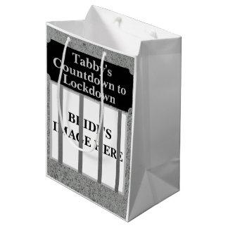 Sacola Para Presentes Média A contagem regressiva da noiva personalizada ao