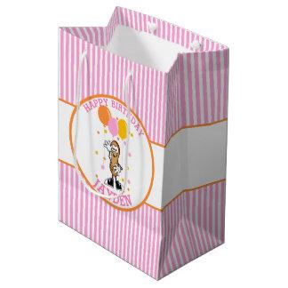 Sacola Para Presentes Média Aniversário personalizado amendoim de Lil