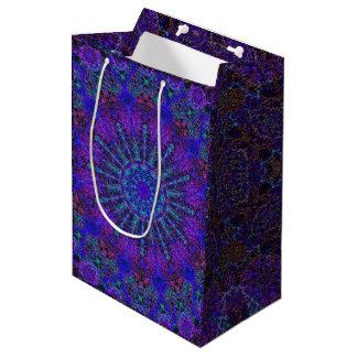 Sacola Para Presentes Média arabesque colorido Boho-romântico do ornamento da