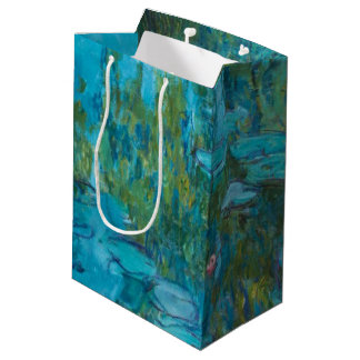 Sacola Para Presentes Média Arte de Nymphéas GalleryHD dos lírios de água de