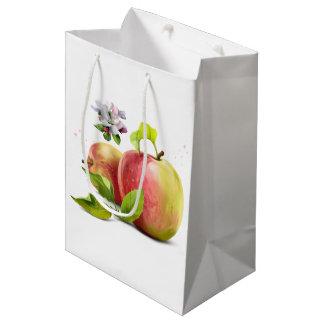 Sacola Para Presentes Média As maçãs, florescem e espirram