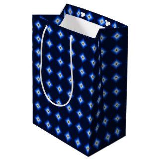Sacola Para Presentes Média Azul e diamante de Tan