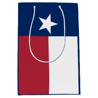 Sacola Para Presentes Média Bandeira azul branca vermelha de Texas
